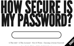 Check the strength of your password