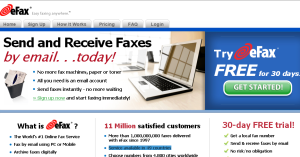 Get fax via email at efax.com
