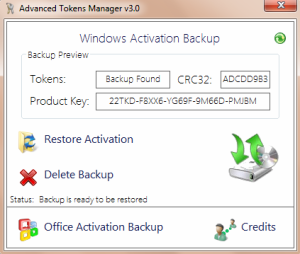 Backup and Restore Windows Activation