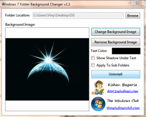 Change Windows7 Folder Background
