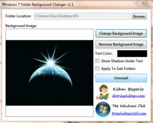 Change Windows7 Folder Background