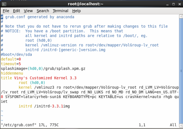 Upgrade kernel to kernel 3.3.1 on RHEL6